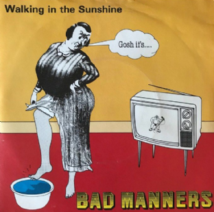 "Bad Manners ‎- Walking In The Sunshine (7"") (VG-/G++)"